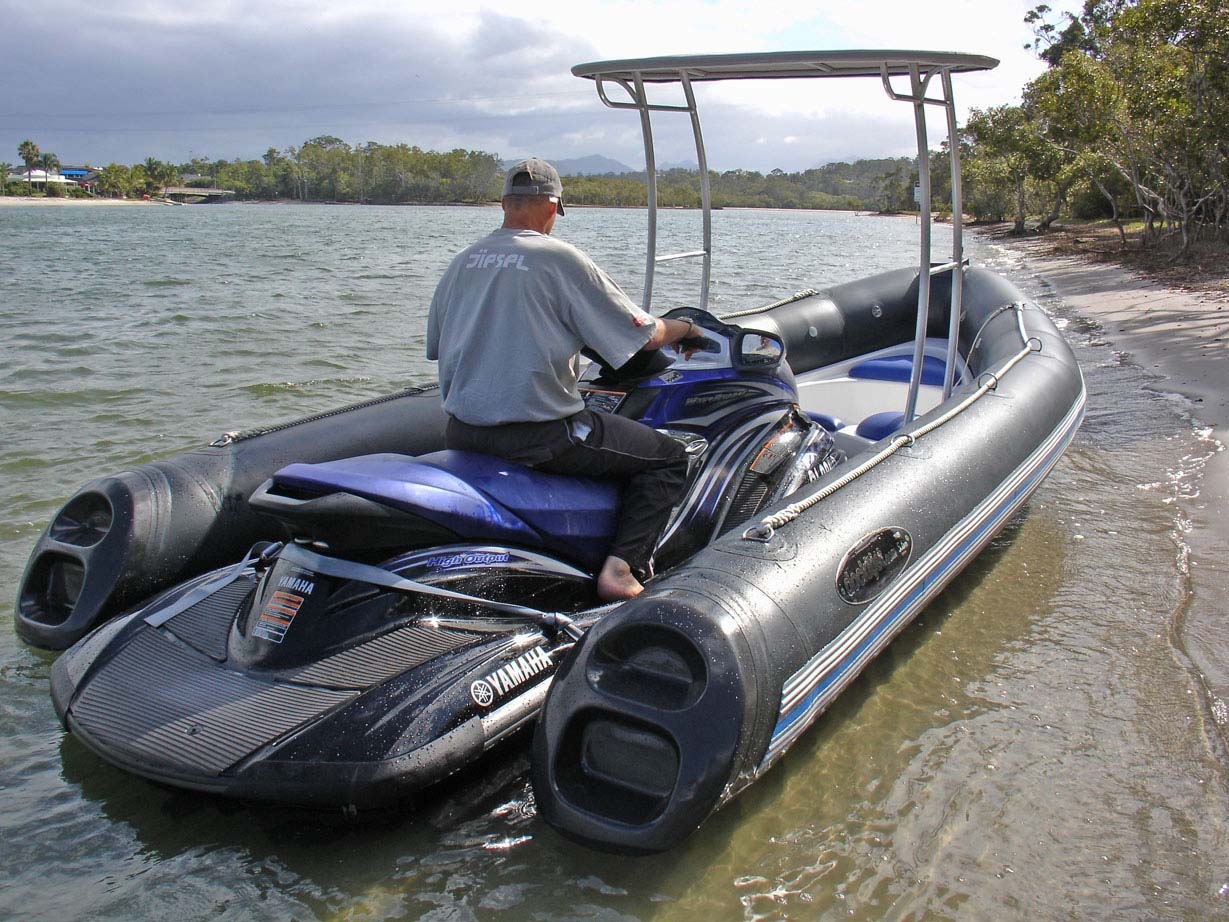 Jet ski to RIB boat conversion - PWC stabilizer