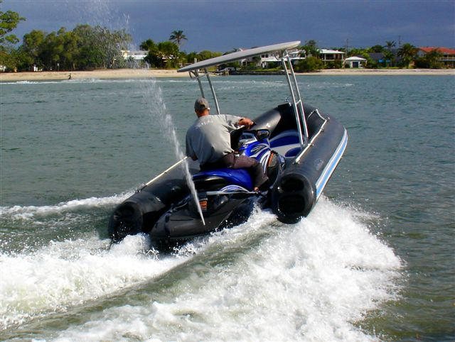 Can 750cc push this boat for Jet ski fishing accessories